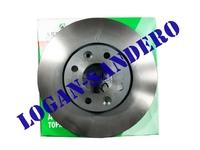 Диск передний тормозной вентилируемый 260х22 Ларгус / Альмера АВТОРЕАЛ (комплект)