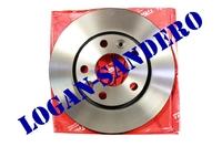 Диск передний тормозной 2,0L и 1,5 Dci Рено Дастер TRW