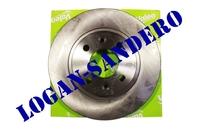 Диск передний тормозной вентилируемый Логан / Сандеро / Ларгус VALEO (комплект)