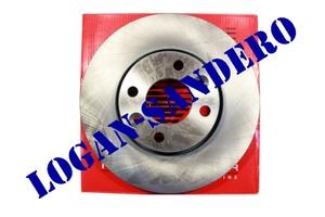 Диск передний тормозной вентилируемый 260х22 Ларгус / Альмера REMSA (комплект)