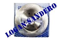 Диск передний тормозной вентилируемый Логан / Сандеро / Ларгус FRANCECAR (комплект)