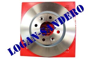 Диск передний тормозной вентилируемый Логан / Сандеро / Ларгус REMSA (комплект)