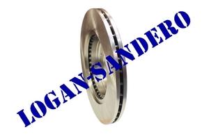 Диск передний тормозной вентилируемый Логан / Сандеро / Ларгус Road House (комплект)