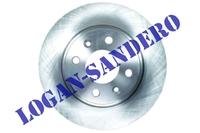 Диск передний тормозной Логан / Сандеро ASIN