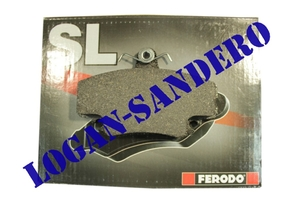 Колодки тормозные передние Логан / Сандеро / Ларгус FERODO