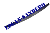 Молдинг на решетку черный Сандеро