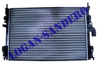 Радиатор охлаждения для а/м c кондиционером Логан с 2008г.в. / Сандеро / Ларгус AMD