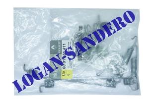 Ремкомплект задних тормозных колодок Логан / Сандеро 203*39 система BOSCH
