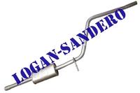Резонатор (средняя часть глушителя) Логан / Сандеро POLMOSTROW