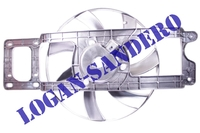 Вентилятор охлаждения в сборе Рено Логан до 2008 г.в. ASAM