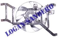 Вентилятор охлаждения в сборе с 2008 г.в. Логан / Ларгус / Сандеро LUZAR