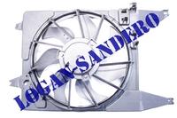 Вентилятор охлаждения в сборе с 2008 г.в. c кондиционером Логан / Ларгус / Сандеро FRANCECAR
