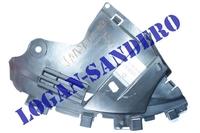 Защита переднего бампера нижняя левая Сандеро