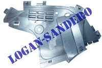Защита переднего бампера нижняя правая Логан с 2010 г.в. / Ларгус