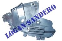 Защита переднего бампера нижняя правая Сандеро